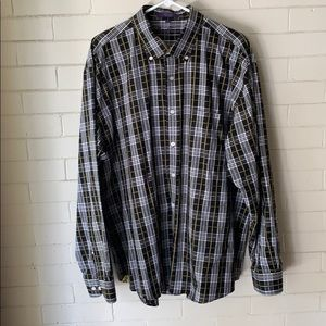 Alan Flusser plaid button down shirt